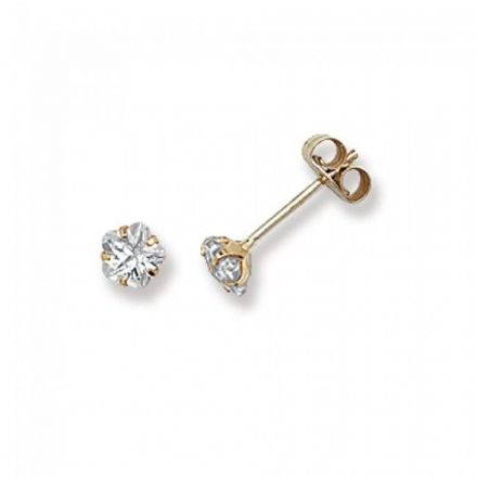 Just Gold Earrings -9Ct Gold Cz Studs, ES299